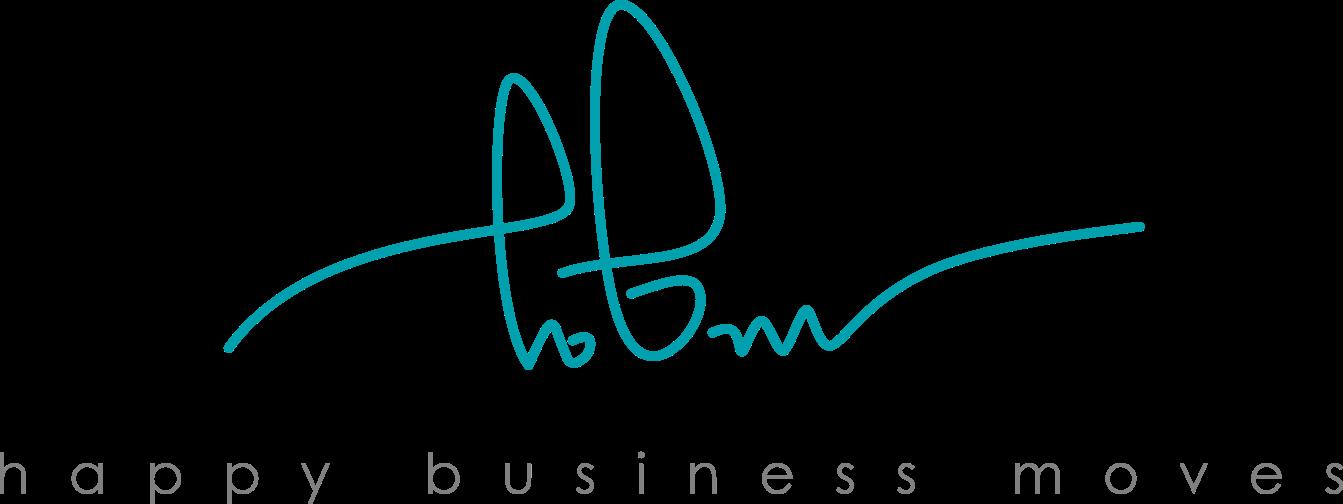 Logo happy business moves technische Kreativität